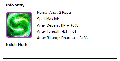 Array 2 Rupa